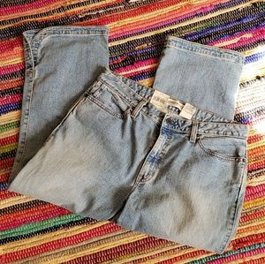 NWT old navy cropped boot cut jeans sz12